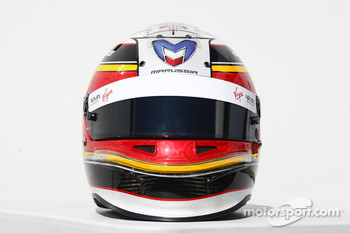 Jérome d'Ambrosio, Marussia Virgin Racing  helmet