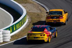 #15 Multimatic Motorsports Mustang Boss 302R: Joe Foster, Scott Maxwell, #9 Stevenson Motorsports Camaro GS.R: Matt Bell, John Edwards