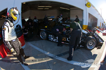 Driver change practice at Level 5 Motorsports: Mark Wilkins