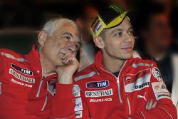 Gabriele Del Torchio, Ducati president and Valentino Rossi, Ducati