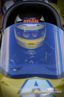 Spenser Massey prepares for his first qualifying round aboard his DSR  Prestone/Fram dragster