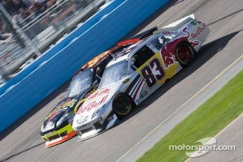 Brian Vickers, Red Bull Racing Team Toyota and Ryan Newman, Stewart-Haas Racing Chevrolet