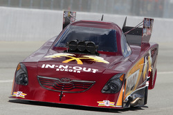 Melanie Troxel aboard her In-n-Out Burger Toyota Camry
