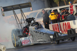 Bob Vandergriff doing a burnout aboard his C&J Energy Services Top Fuel Dragster