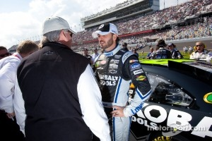 Jimmie Johnson, Hendrick Motorsports Chevrolet with team owner Rick Hendrick