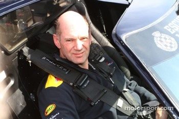 Adrian Newey, Red Bull Racing, Technical Operations Director drives a Ford GT40 to promote the spirit of Monjuic
