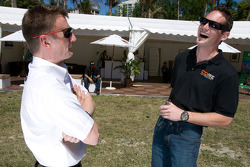 Go Green Auto Rally event in Miami: Allan McNish and Gunnar Jeannette