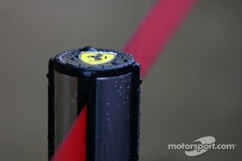 Heavy rain hits circuit de Catalunya for the last day of testing, Scuderia Ferrari atmosphere