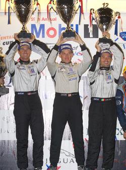 P2 podium: class winners Scott Tucker, Ryan Hunter-Reay and Luis Diaz