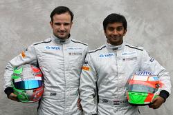 Vitantonio Liuzzi, Hispania Racing Team, HRT and Narain Karthikeyan, Hispania Racing Team, HRT