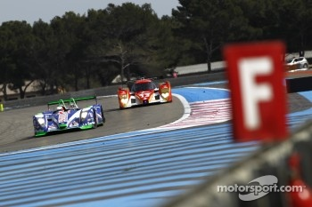 #16 Pescarolo Sport Pescarolo - Judd followed by #13 Rebellion Racing Lola B 10/60 Coupe-Toyota
