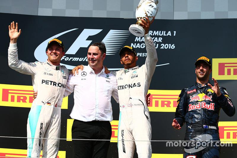 1. Lewis Hamilton, 2. Nico Rosberg 3. Daniel Ricciardo