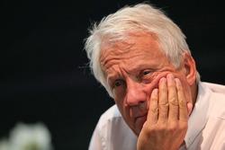 Charlie Whiting, FIA Delegate at a FIA Press Conference