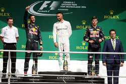 Podium: winner Lewis Hamilton, Mercedes AMG F1, second place Daniel Ricciardo, Red Bull Racing, third place Max Verstappen, Red Bull Racing