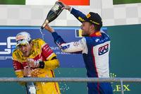 GP2 Foto - Il vincitore della gara Antonio Giovinazzi, PREMA Racing, il terzo classificato Luca Ghiotto, Trident