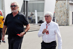 (L to R): Flavio Briatore, with Bernie Ecclestone,