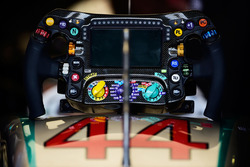 Steering wheel of Lewis Hamilton, Mercedes AMG F1