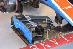 Manor Racing MRT05, detail front wing