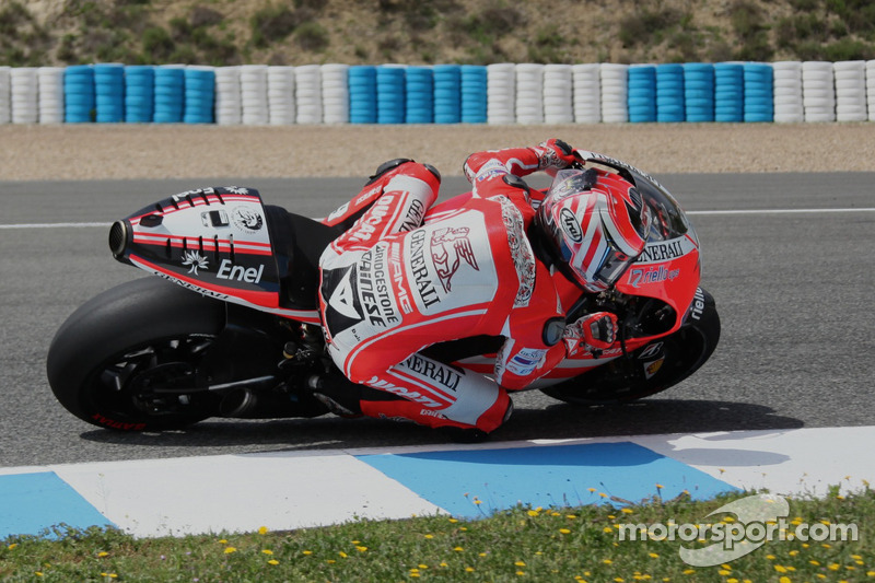 Nicky Hayden, Ducati Team, tests the new Ducati GP12