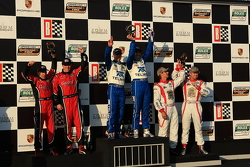 DP podium: class and overall winners Scott Pruett and Memo Rojas, second place Jon Fogarty and Alex Gurney, third place Ryan Dalziel and Mike Forest