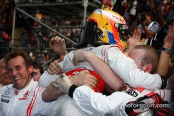Hamilton's first race win of the season