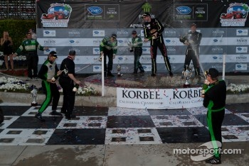 GTC podium: champagne celebration
