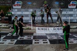 GTC podium: champagne celebration