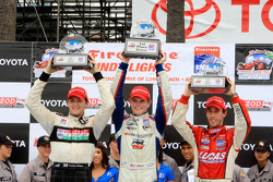 Race winner Conor Daly, second place Stefan Wilson, third place Esteban Guerrieri