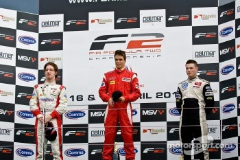 Podium from left: Mirko Bortlottli, Miki Monras and Christopher Zanella