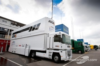 Barwa Addax Team truck in the paddock