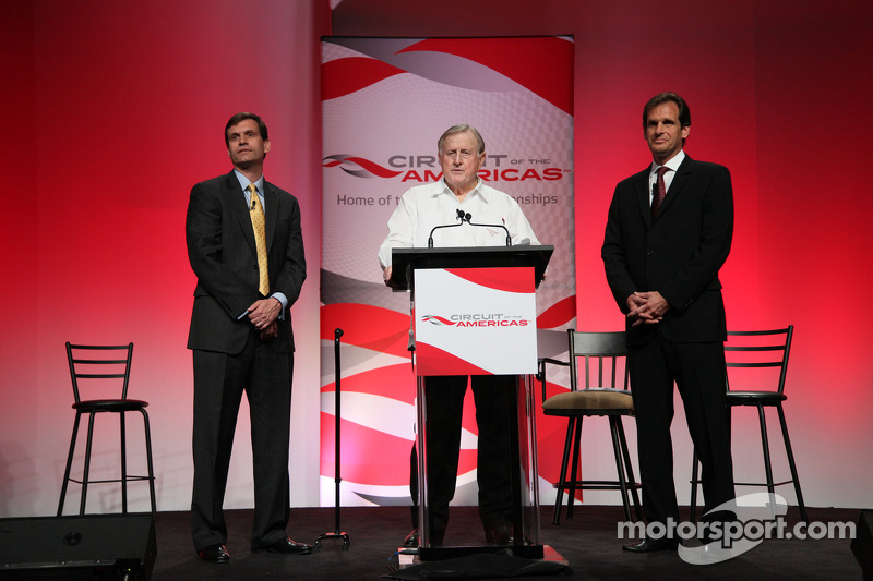 Press conference announcing a 10-year contract to bring MotoGP to the new Circuit of the Americas beginning in 2013