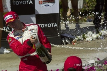 Champagne for race winner Sbastien Bourdais