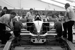 Tech inspection for Forsythe Racing car