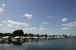 Paddock area at Circuit Gilles-Villeneuve