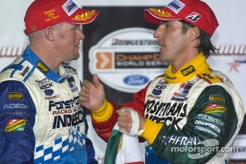 Podium: Paul Tracy and Mario Dominguez