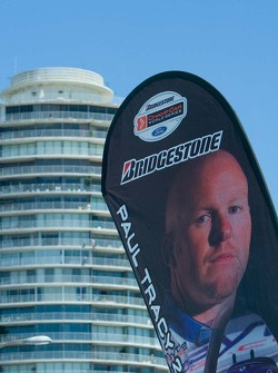 Champ Car paddock banner for Paul Tracy