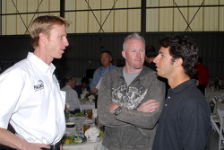 Memo Gidley, Paul Tracy and Bruno Junqueira