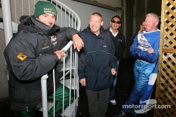Alex Tagliani and Paul Tracy share a laugh