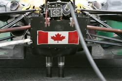 Detail of Alex Tagliani's car