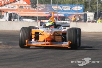 Mario Dominguez drives the Minardi F1X2