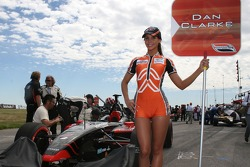 The grid girl of Dan Clarke