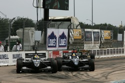 Roberto Moreno and Matt Halliday collide
