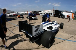 The Forsythe Championship Racing car of Mario Dominguez out of tech inspection