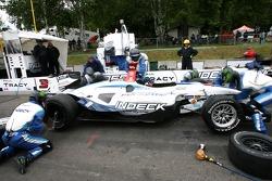 Forsythe Racing crew members practice pitstops
