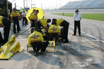 Panther Racing crew members at work
