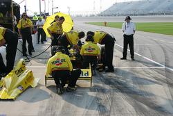Panther Racing crew members at work