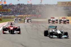 Nico Rosberg, Mercedes GP F1 Team, MGP W02, Fernando Alonso, Scuderia Ferrari, F150