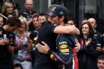 Red Bull team celebration, Mark Webber, Red Bull Racing
