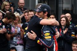 Red Bull team celebration, Mark Webber, Red Bull Racing