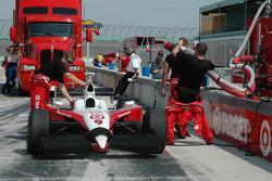 Chip Ganassi Racing pit area